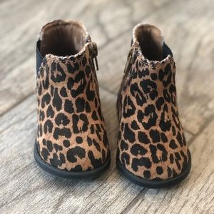Other - Baby girl leopard bootie boots